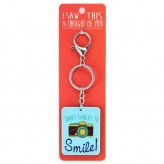 Dont Forget to Smile-I Saw This Keyring
