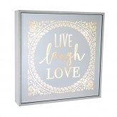 Live Laugh Love - Large Square Light Box