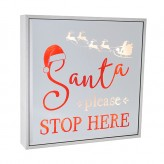 Santa Stop Here - Large Square Light Box
