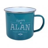 Alan - Enamel Mug