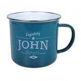 John - Enamel Mug