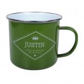 Justin - Enamel Mug