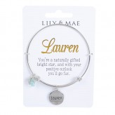 Lauren - Personalised Bangle