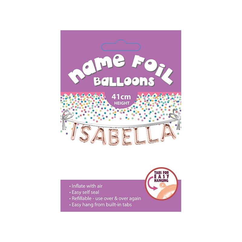 Isabella Name Balloon Artique