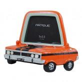 Orange Car Photo Frame 5 x 3.5 inch