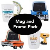 Man Mug & Classic Car Frame Pack