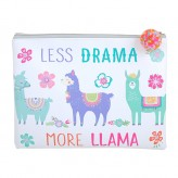 Llama - Lge Pencil Case White