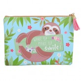 Sloth - Lge Pencil Case Blue